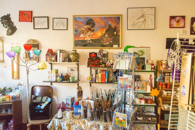 Sparkledragon's Magical Emporium's interior basks in the midday sunlight. Photo by Hannah Harley