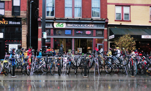 OTB Bicyle Café in Pittsburgh PA Photograph: Curtosy of roadtrippers.com