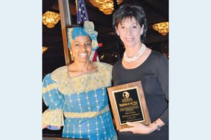 Niecy Dennis, WDGA President and Founder with Volunteer of the Year Sue Hobart